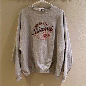 Vintage Logo Athletic Miami Hurricanes Sweatshirt